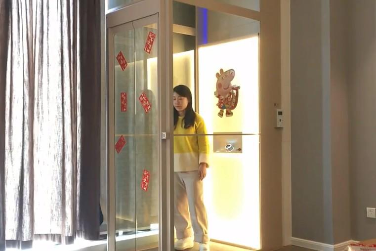 自家别墅安装的家用电梯图