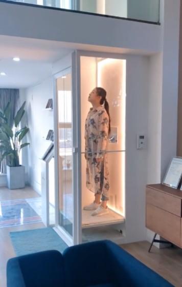 别墅电梯安装室内图