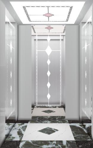 定制银色家用电梯轿厢