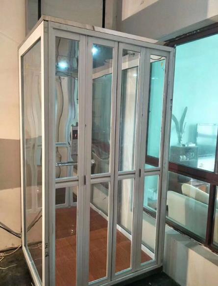 全钢化玻璃的家用电梯