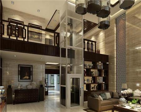 别墅电梯的透明轿厢