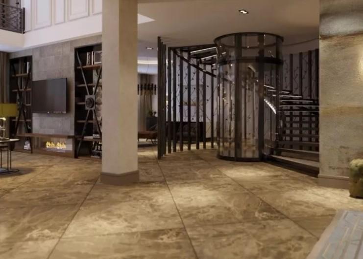 豪华奢侈的别墅安装了一台电梯