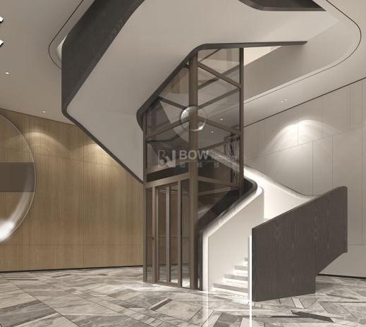 安装在成都双流航空港的别墅电梯