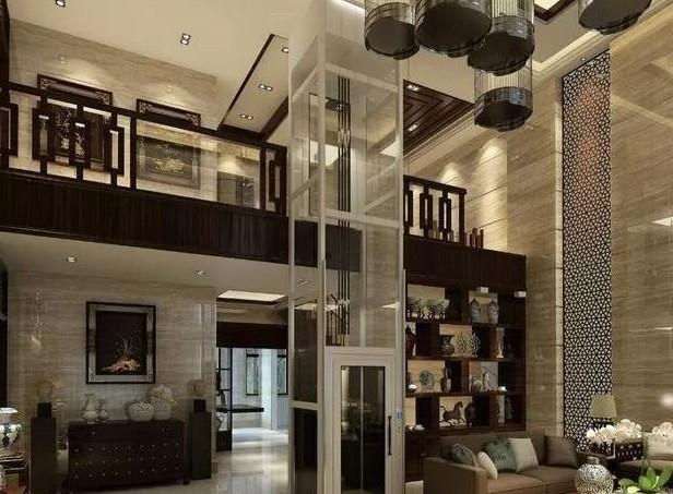 有井道的两层别墅电梯安装完毕