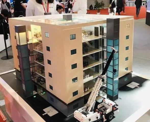 家用电梯安装示意的3D模型
