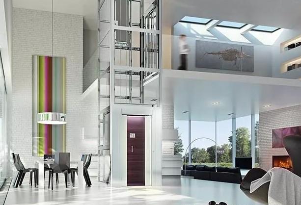 双流电梯公司里面有和台两层的漂亮家用电梯