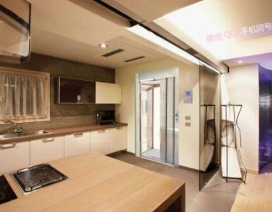 一台非常美观漂亮的家用电梯