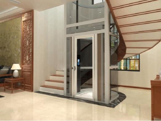 别墅家用电梯和旋转楼梯看起来相当的好看