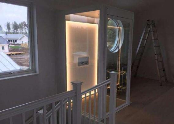 成都家用电梯的背景灯光