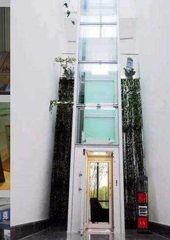 一部漂亮的观光别墅家用电梯
