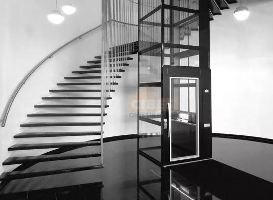 别墅电梯和缕空式别墅楼梯简直是百搭