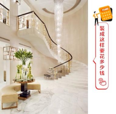 三层独栋别墅安装的家用电梯相当美观