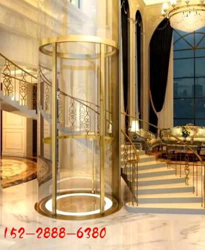 圆弧形别墅家用电梯