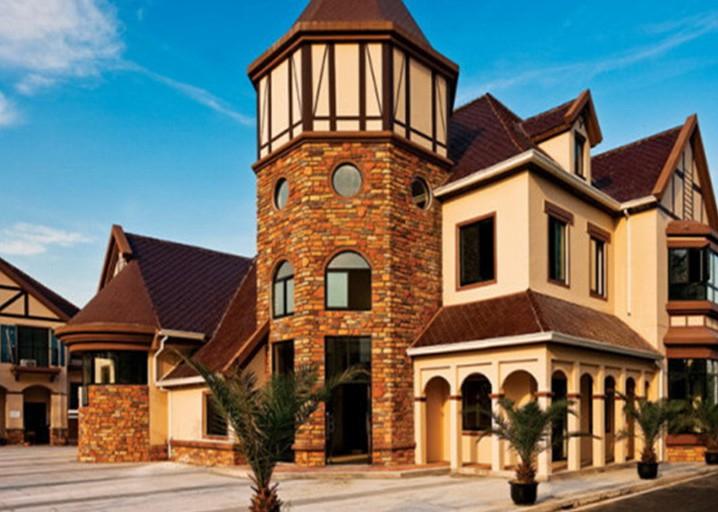三层家用式别墅安装的漂亮电梯